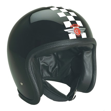 Casco Davida Speedster Check negro / blanco