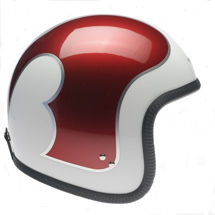 Casco Davida Speedster blanco / plata / granate