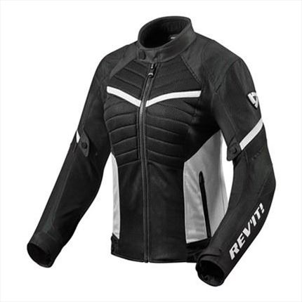 Chaqueta moto Revit  Arc Air Ladies negro blanco | MOTàNITY