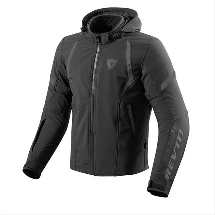 Chaqueta REVIT Burn Negra - motonity