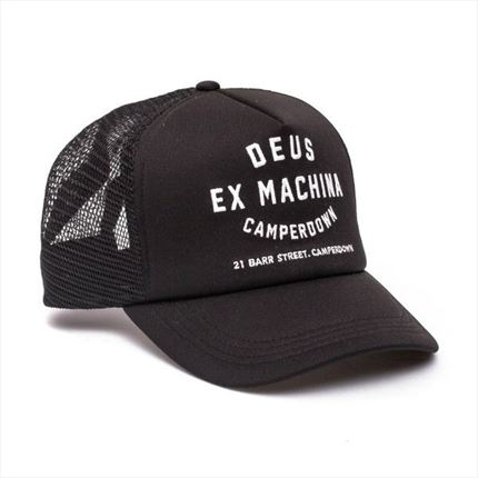 Gorra DEUS Camperdown Address Trucker Negro - motónity