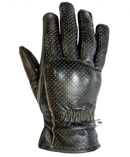 Guantes Helstons BASIK Pull Up Perforado Marron
