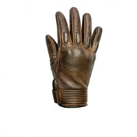Guantes Helstons Side Lady Negro/Camel