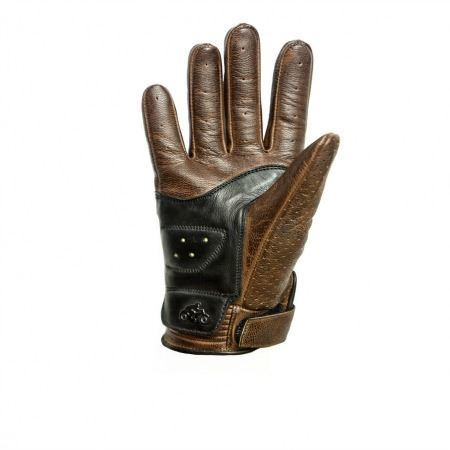 Guantes Helstons Side Lady Negro/Camel (2)